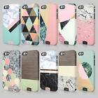 Tirita Marble Wood Texture Look Alike Case Hard Cover For iPhone 4 5 6 & SE