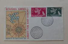 CEPT Romania 1961 Special FDC a Europa Unión Rumanía privado de salida