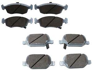 Beck-Arnley Ceramic Front and Rear Brake Pads Set Kit For Fiat 500 2012-2017