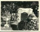 1984 Press Photo Ceremony at Uncle Sam's grave at Oakwood Cemetery in Troy.