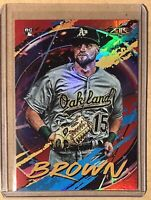 2020 Topps Fire Flame Parallel #169 Seth Brown Oakland Athletics A's FOIL