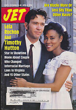 JET MAGAZINE APRIL 8, 1996 *LELA ROCHON/TIMOTHY HUTTON/MR & MRS. LOVING*