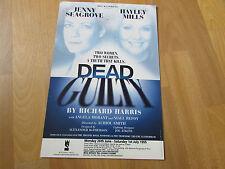 DEAD GUILTY  Hayley MILLS & SEAGROVE 1995  WYCOMBE Swan Theatre Original Poster