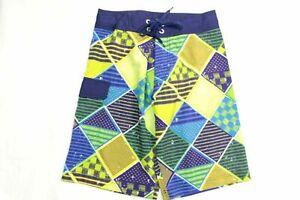 Swim Board Shorts Blue Multi color Youth Trunk Size 14/16