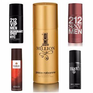 New Deodorant Spray for Men 212 VIP NYC Sexy 1 One Million Paco Rabanne Azzaro