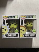 Rick and Morty Funko Pop Bundle 2; Alien Rick and Morty; ECCC Exclusive Shared