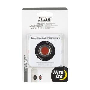 Nite Ize Sto-01-R7 Steelie Orbiter Magnetic Socket And Metal Plate