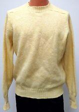 vtg Pendleton YELLOW SHETLAND WOOL Sweater XL Made in USA crewneck