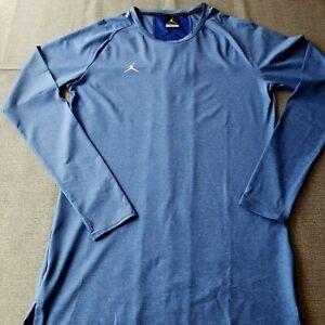NWT NIKE AIR JORDAN 23 Compression Long Sleeve Top Blue/ Gray AO9216 Multi Size