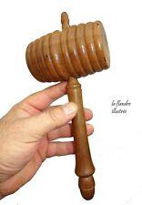 gros maillet en bois tourné casse noix ancien - marteau - sugar