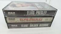 Lot of 3 Elvis Presley Audio Cassette Albums