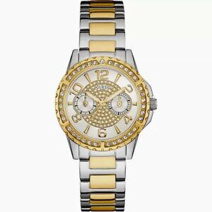 AUTHENTIC GUESS LADIES' SASSY WATCH TWO TONE RRP:$379 0705L4 Brand New