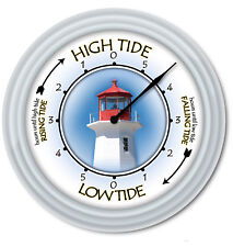 Lighthouse Tide Clock - Times Of Tides -  Coast Sailing Boating Fishing - GIFT