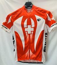 NWOT XXL Pearl Izumi Elite Swiss Cross Short Sleeve Cycling Jersey Men's Red 2XL