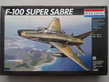 Monogram 74010 F-100 Super Sabre 1:48 Neu, Karton defekt, Decals fehlen