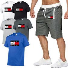 Tommy Hilfiger Herren Tshirt und Shorts Anzug TShirt Kurze Hose Kurzarmshirt