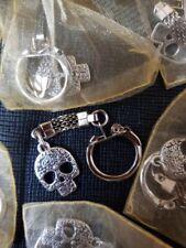 Halloween Candy Skull Key Ring Key Chain Silver Skulls Day Of The Dead Skull