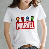 2019 Fashion Marvel Avengers T shirt Women printed Harajuku Tshirt Thin section