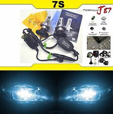 LED Kit 7S 50W 9003 HB2 H4 8000K Icy Blue Headlight Two Bulbs High Low Plug Play
