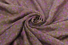 Vintage 100% Pure Silk Saree Green Printed Sari Craft Decor Fabric Dressmaking