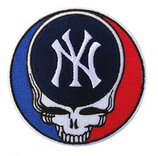 "⚾ NEW! 4"" NEW YORK YANKEES 'Grateful Dead' Logo Iron-on Baseball Jersey PATCH!"