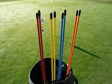 Golf Alignment Sticks Blue, Orange, Red or Yellow (2 or 6 sticks) ***BARGAIN***
