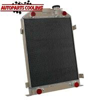 """4 ROW Aluminum Radiator FOR 1935-1936 FORD Model-A FLATHEAD 28""""-HEIGHT 60MM US"""