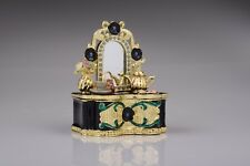Faberge Dressing table Trinket box hand made by Keren Kopal & Austrian crystals