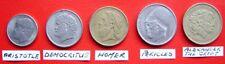 Grecia Conjunto de 5 monedas Vintage Hermosa todos con diferentes cabezas famosas histórico
