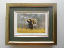 David Shepherd print 'Wise Old Elephant'  FRAMED