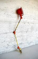 Jean-Louis Domecq: French industrial table lamp, painted metal, adjustable.