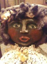 Rare Family 5 Black Cloth Dolls, Mystery Maker circa 1930s?Read All Info!