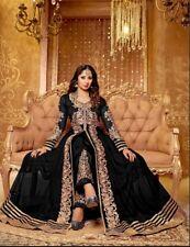 Net Anarkali Black Bollywood Dress Indian Designer Suit Festival Wear Dress
