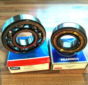Lambretta LI SX TV Mag Side & Drive Side Bearings Quality SKF 6305 & NSK NU205