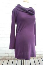 Juliet Dream Maternity Tunic Top - Lightweight Sweater Knit Cowl Neck Large