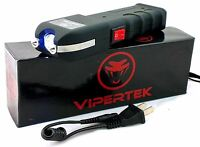Genuine Vipertek VTS-989 Heavy Duty Rechargeable Stun Gun with LED Light
