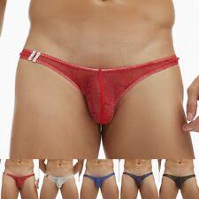 Uomo Velato a Rete Trasparente Bikini Biancheria Intima Tanga Perizoma