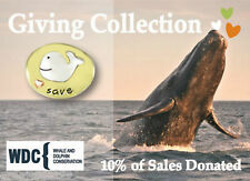 Save Whales Tie Tack I Love Whales Lapel Pin Mima Oly 10% Donated Gift Boxed