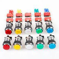 10x Arcade Chrome Plating LED Illuminated Push Buttons 12V Each Color of 2 Pcs