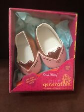 """Our Generation Pink Kitty Shoes Fits Most 18"""" Dolls"""