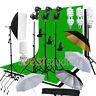 Photo Studio Softbox Backdrop Umbrella Lighting Kit Background Stand Set US Fast