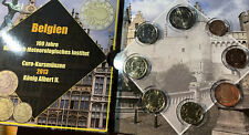 More details for belgium 🇧🇪8x coins set 2013 1 cent /2€ euro including metereological inst bunc
