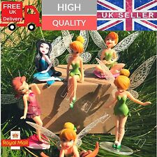 6 Campanellino Fate Principessa Peter Pan FIGURE doll toy Cake Topper Decorazione