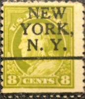 Scott #508 US 1917 Franklin Postage Stamp N.Y. Precancel VF