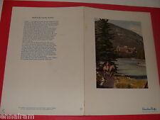 1952 Canadian Pacific Railway Dominion Dining Car Menu Banff Hotel cover