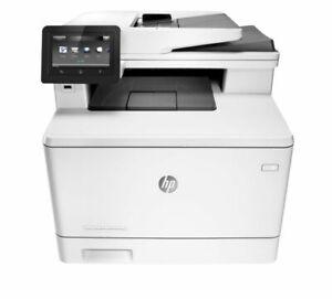 HP LaserJet Pro M477fdn All-In-One Laser Printer 90 days warranty w/toners