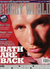 Revista Mundial De Rugby 1997 de octubre, Baño, Cardiff, sarracenos, Milán, Montoya