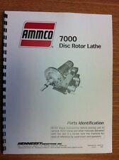 Ammco 7000 Brake Lathe Parts Manual
