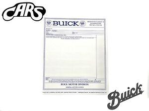 1965-1966 Buick Window Sticker | New
