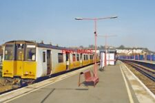 PHOTO  2000 STROOD RAILWAY STATION WITH LOCAL TRAIN VIEW NE TOWARDS HIGHAM GRAVE